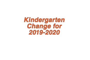 Kindergarten Enrollment Change