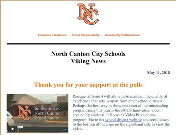 May 11th NCCS Newsletter