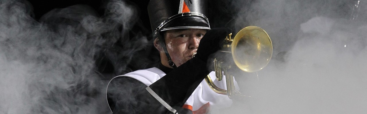 Bandsman performing