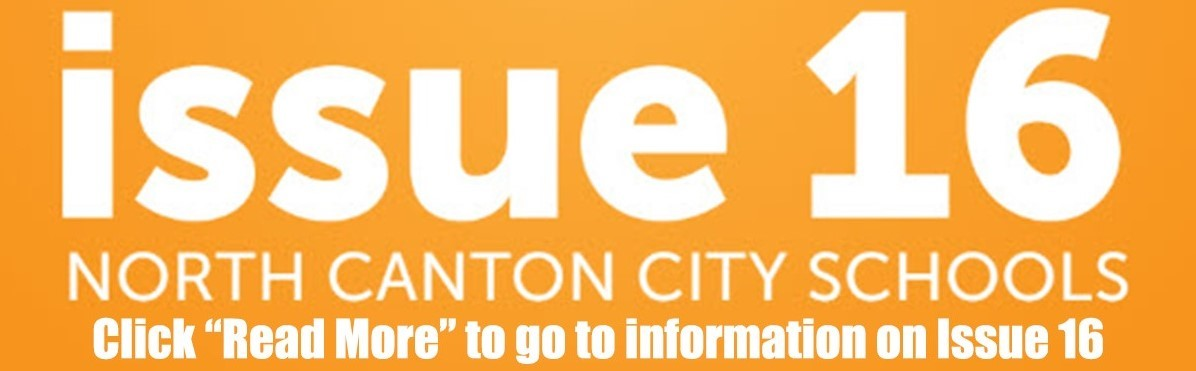 orange banner with Issue 16 North Canton City Schools