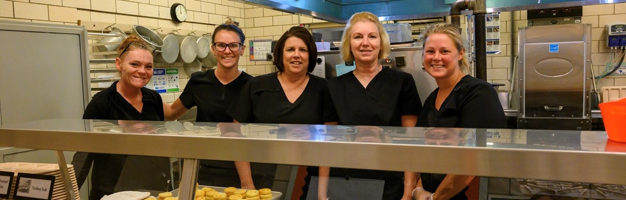 five cafeteria workers
